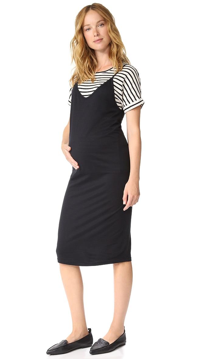 6dc6fcaeb6fdc MONROW Maternity Slip Dress with Tee | SHOPBOP
