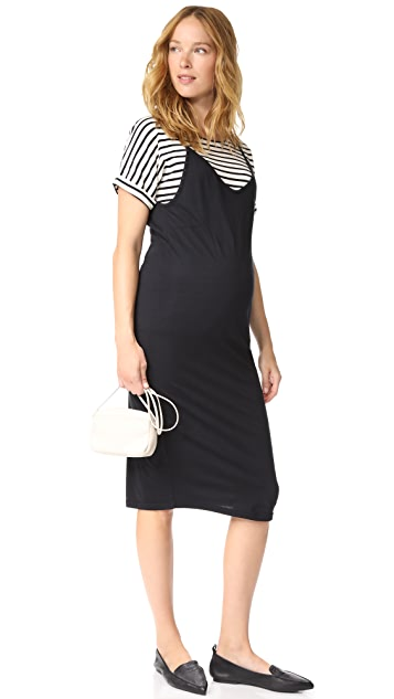 MONROW Maternity Slip Dress with Tee