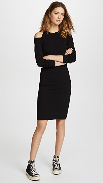 MONROW Cutout Shoulder Dress