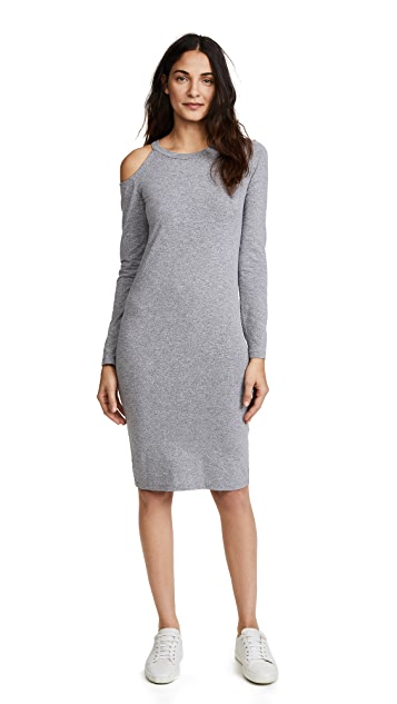 MONROW Cutout Shoulder Dress