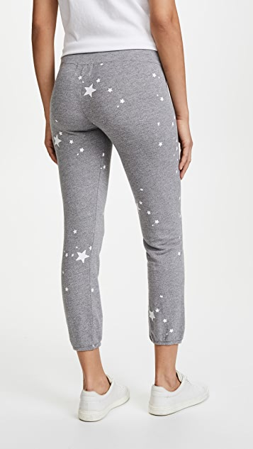 MONROW Vintage Sweats with Printed Star Dust