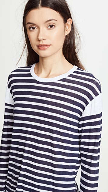 MONROW French Stripe Tee