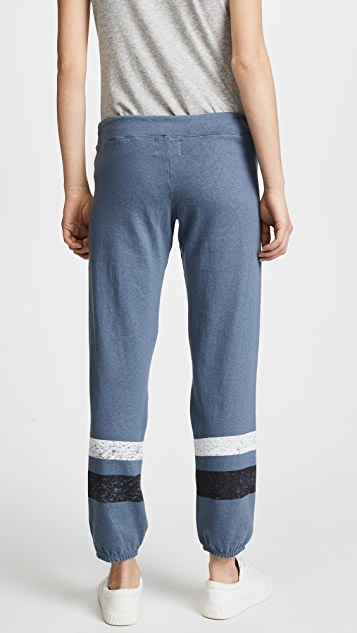 MONROW Vintage Sweatpants with Stripes