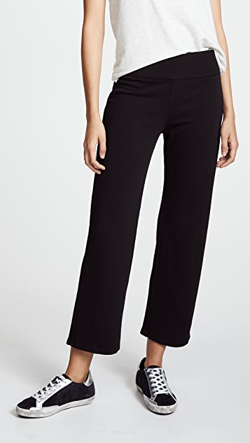 MONROW High Waist Culottes - Black