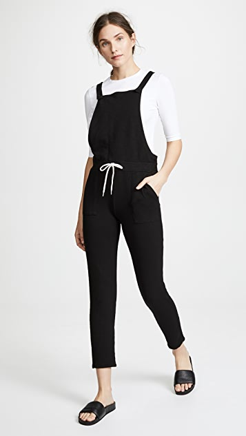 MONROW Patch Pocket Overalls - Black