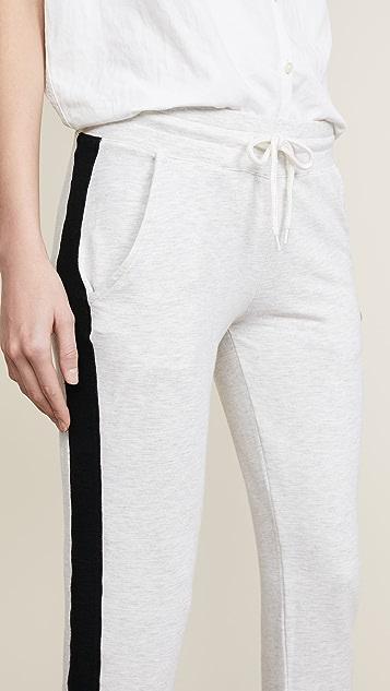 MONROW Color Block Sporty Sweatpants