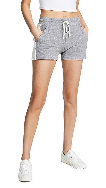 MONROW Colorblock Elastic Waist Shorts