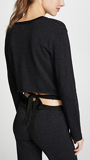MONROW Tie Back Long Sleeve Top