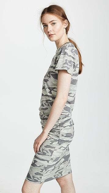 MONROW Camo Shirred Dress