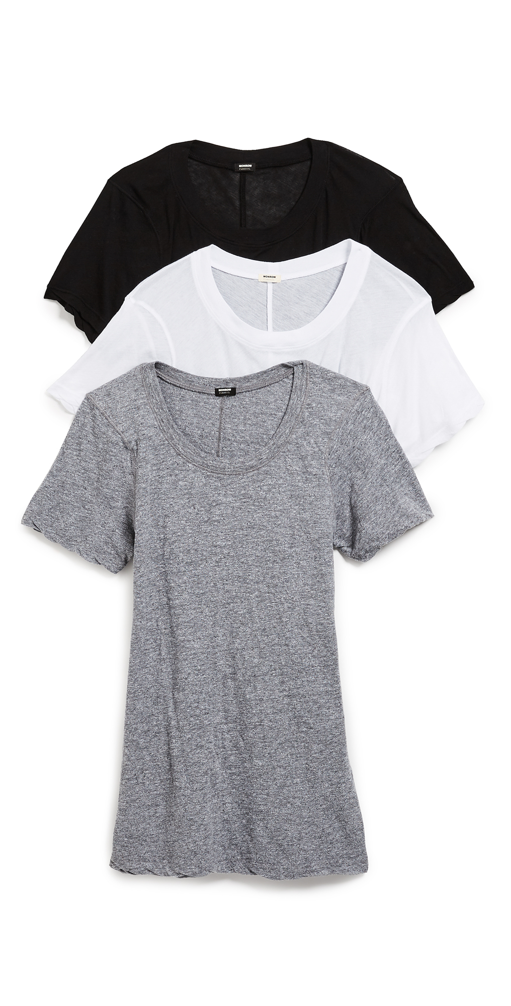 MONROW Crew Neck Tee 3 Pack