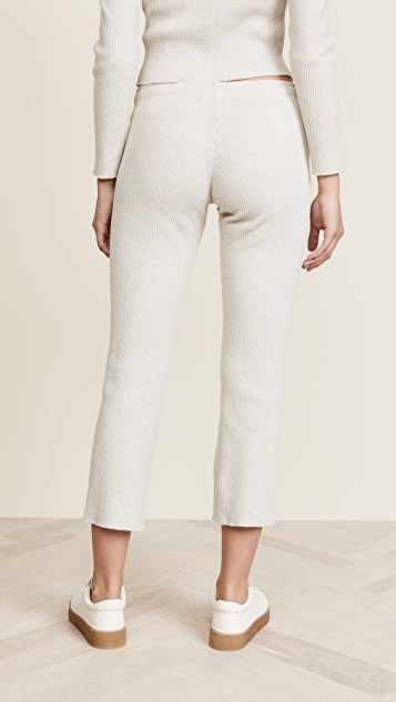 MONROW Elastic Waist Raw Sweats