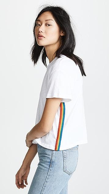 MONROW Rainbow Stripe Tee