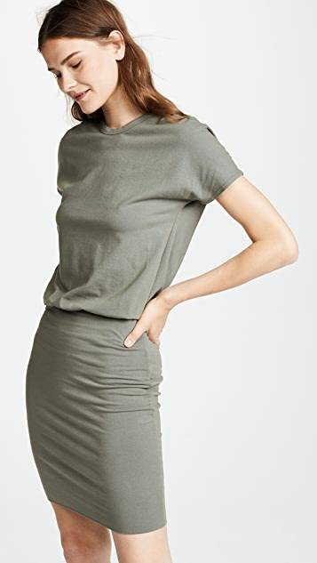 MONROW Drop Shoulder Dress