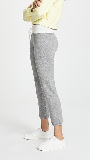 MONROW Two Tone Vintage Sweatpants