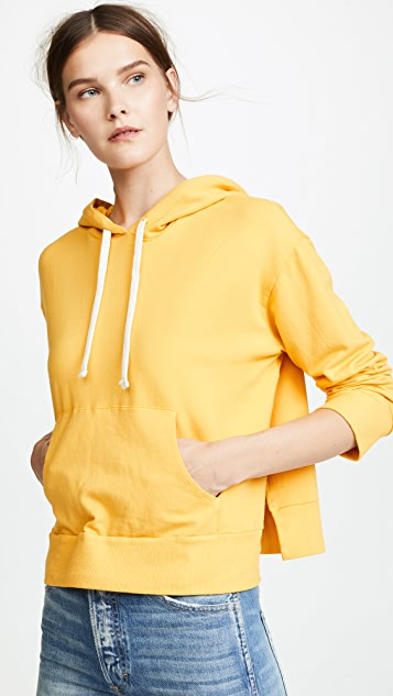 MONROW Pullover Hoodie with Side Slits