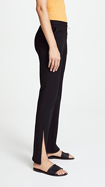 MONROW High Rise Slit Sweatpants