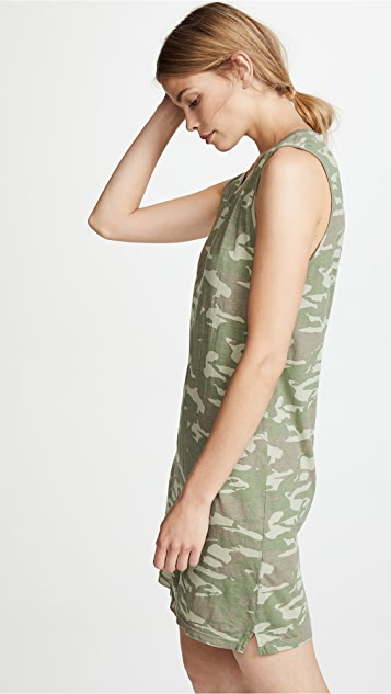 MONROW Tonal Camo Tank Dress