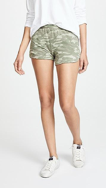 MONROW Tonal Camo Lounge Shorts