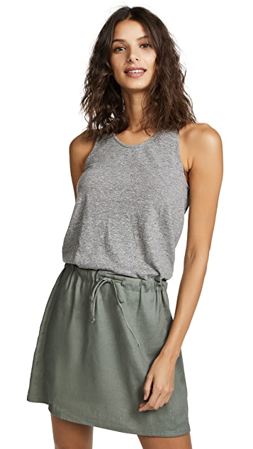 MONROW Contrast Tank Dress