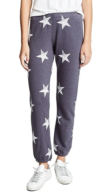 MONROW Oversized Star Sweatpants