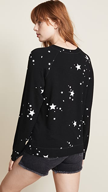 MONROW Supersoft Vintage Sweatshirt With Stardust