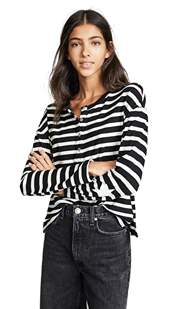 MONROW Slouchy Top Henley