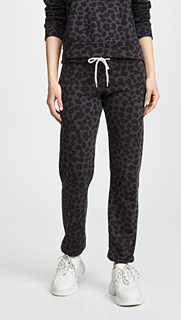 MONROW Винтажные спортивные брюки с леопардовым принтом