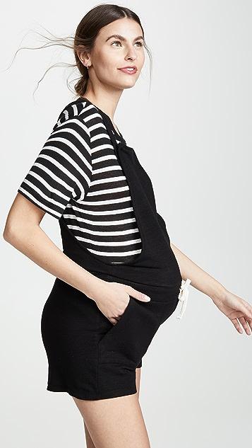 MONROW 孕妇装短款连体裤