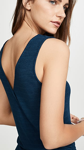 MONROW Rib Cross Back Dress