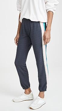 Elastic Waist Sweats with Summer Stripes