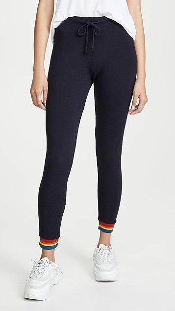 MONROW Узкие спортивные брюки с радужными манжетами