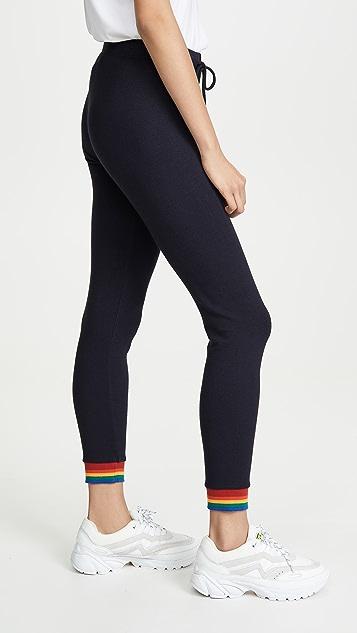 MONROW Skinny Sweats with Rainbow Cuffs