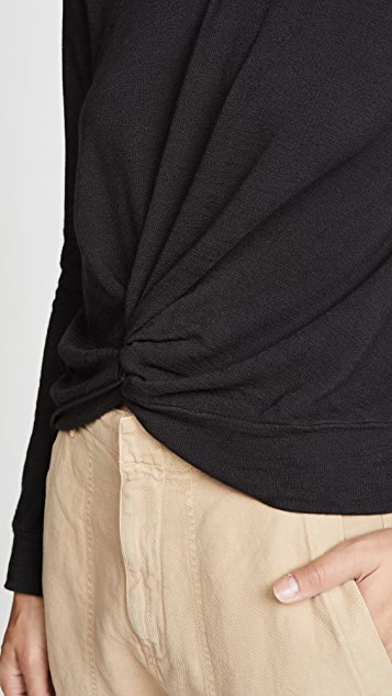 MONROW Supersoft Twist Sweatshirt