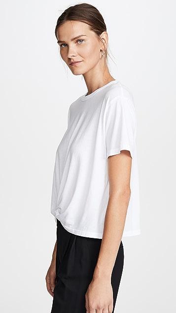 MONROW 扭褶正面 T 恤