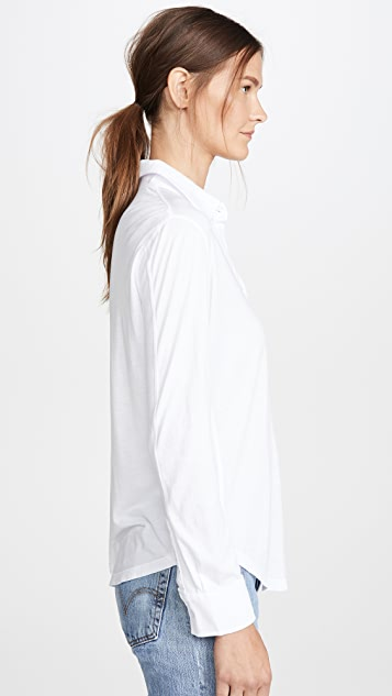 MONROW Jersey Button Down