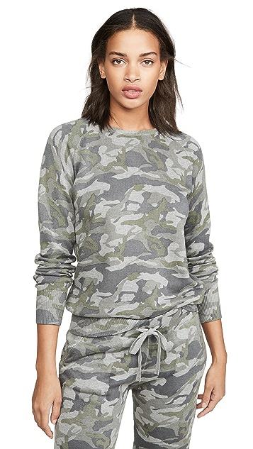 MONROW Grey Camo Raglan Sweatshirt