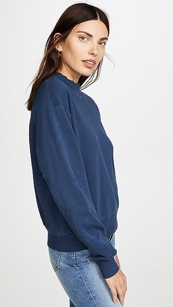 MONROW 半高领接缝运动衫