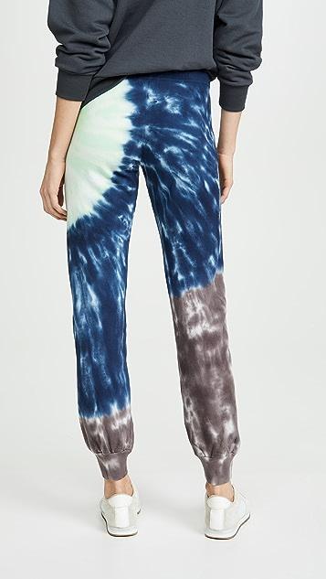MONROW Sun Burst Tie Dye Girlfriend Sweatpants