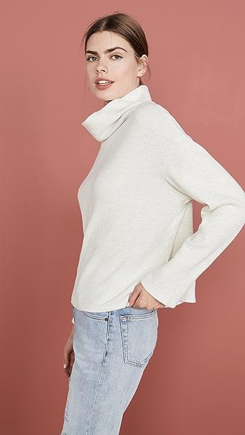 MONROW 垂褶领运动衫