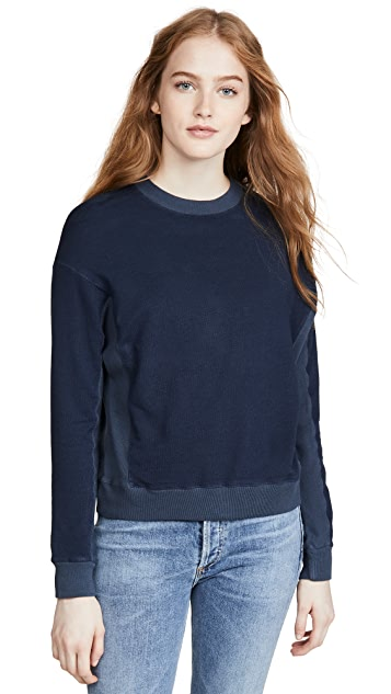 MONROW Contrast Supersoft Sweatshirt