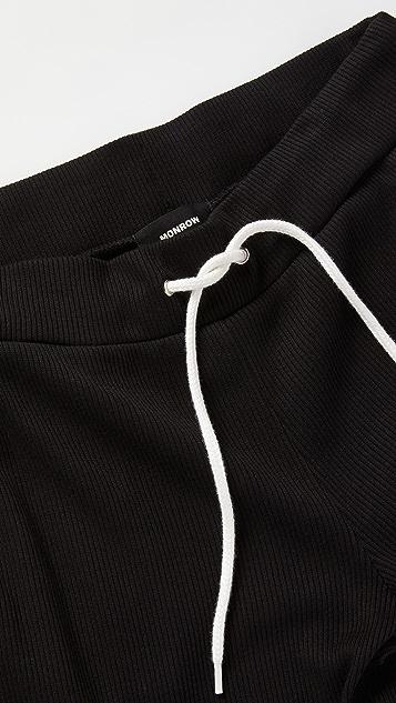 MONROW Rib Sporty Sweat Pants