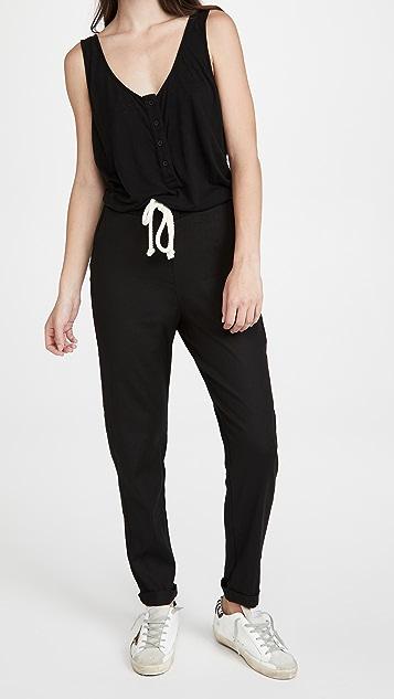 MONROW 针织梭织连身衣