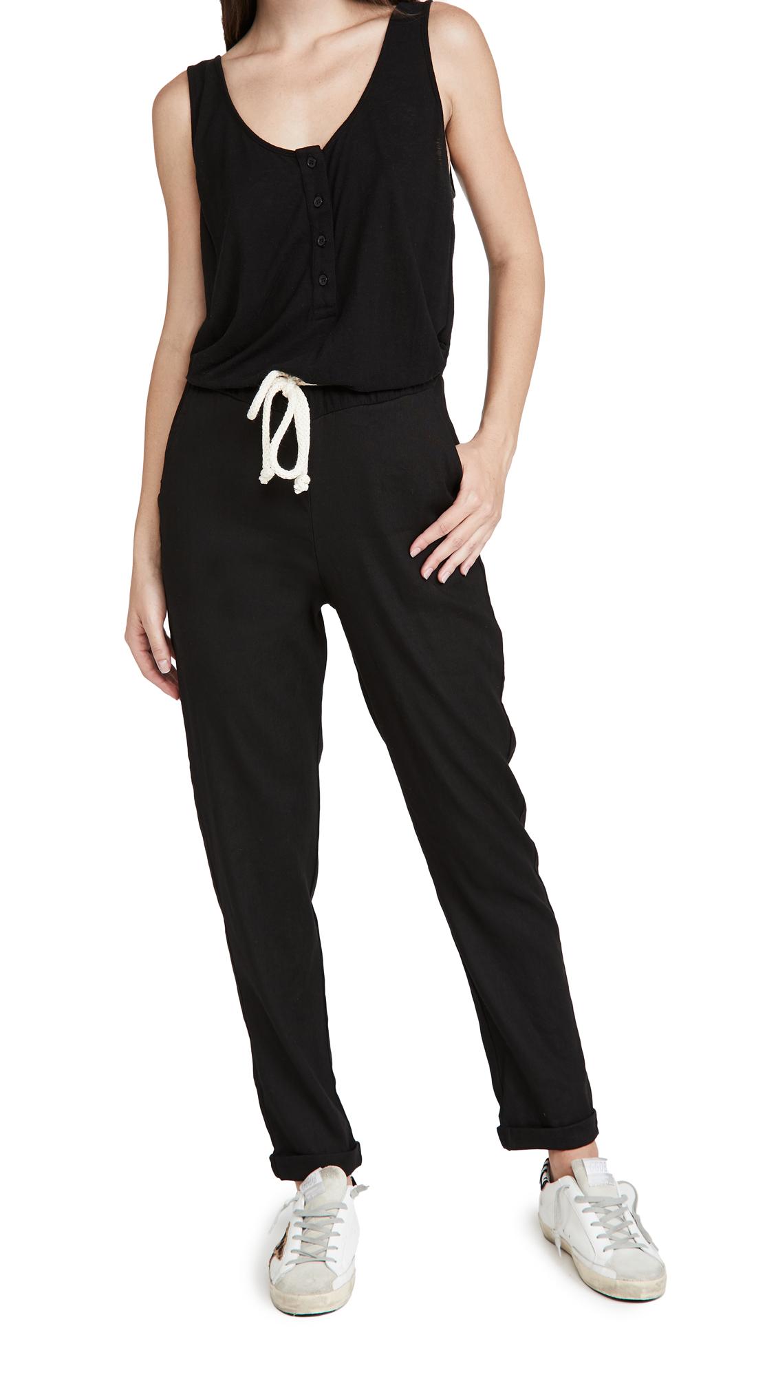MONROW Knit Woven Jumpsuit