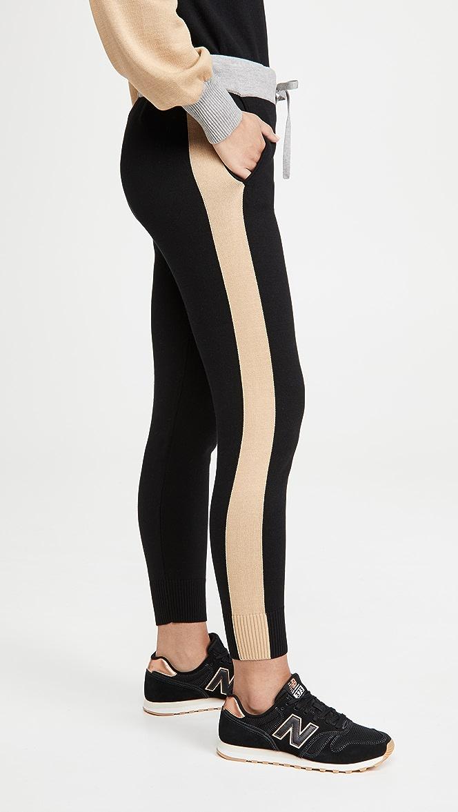 Monrow Womens Colorblock Sweatpants