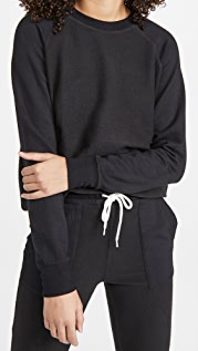 MONROW Reversed Supersoft Raglan Sweatshirt