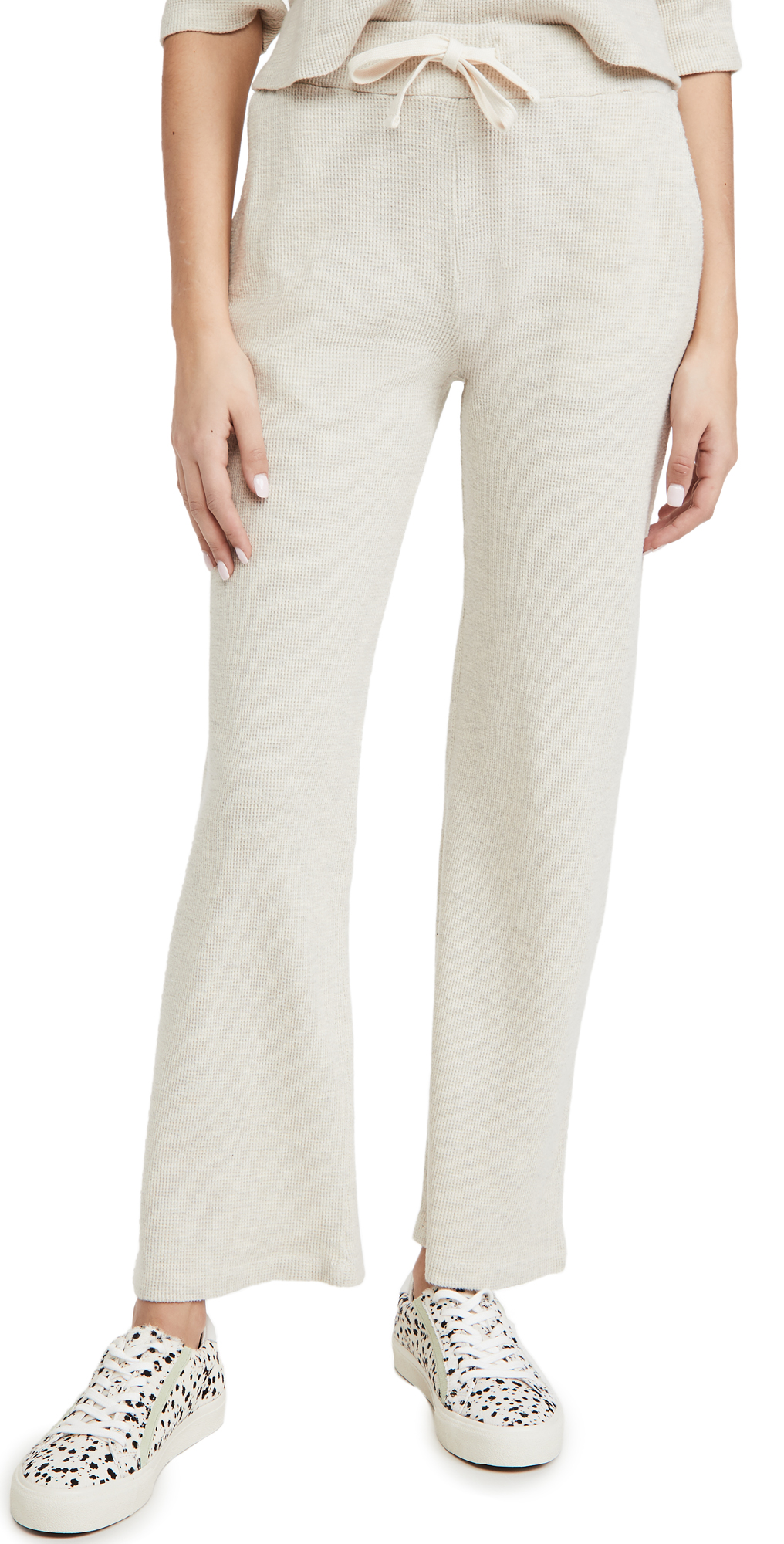 MONROW Brushed Thermal Wide Leg Sweats