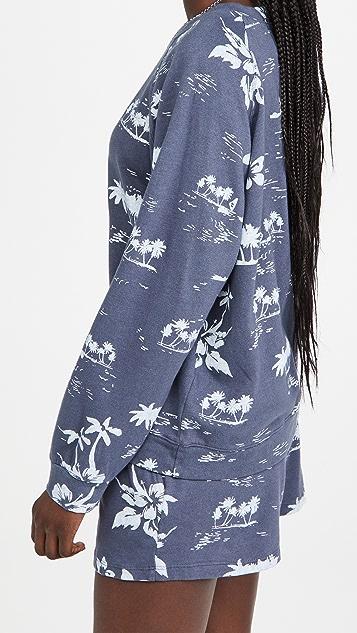 MONROW Hawaiian Raglan Sweatshirt