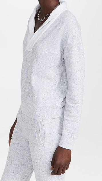 MONROW Neps Shawl Collar Sweatshirt