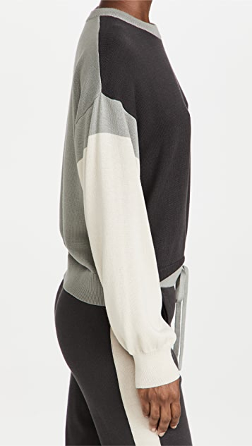 MONROW Colorblock Relaxed Sweater