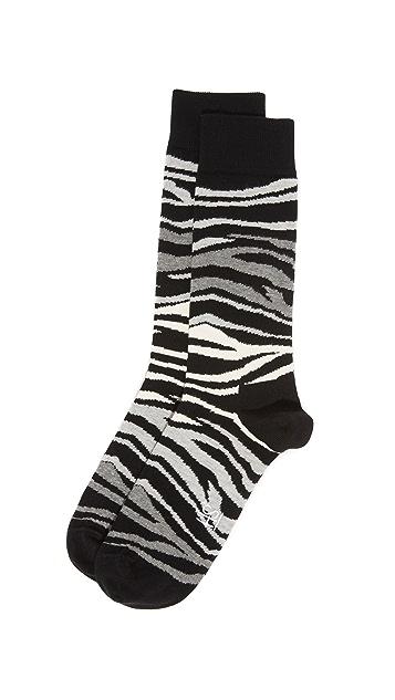 HS Multi Zebra Socks